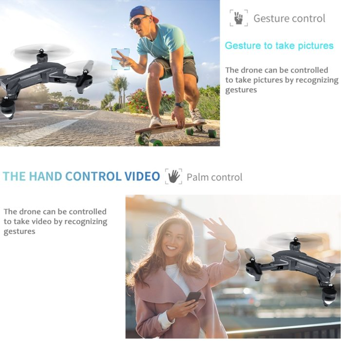 Visuo XS816 RC Drone with 50 Times Zoom WiFi FPV 4K Dual Camera Optical Flow Quadcopter Foldable Selfie Dron VS SG106 M70 3