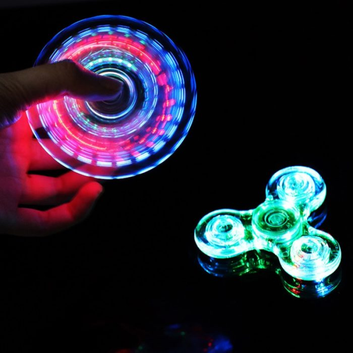 Luminous LED light Fidget Spinner Hand Top Spinners Glow in Dark Light EDC Figet Spiner Batman Finger Stress Relief Toys 1
