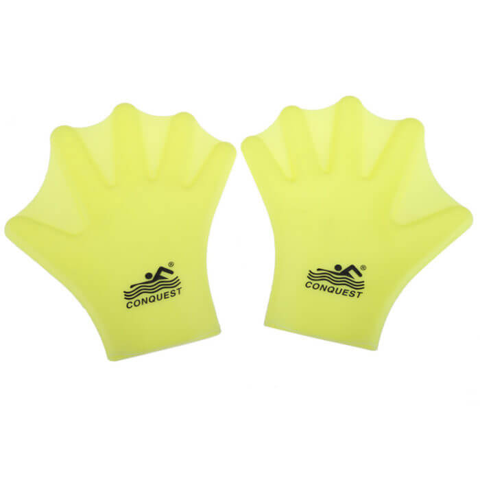1 Pair Swimming Webbed Gloves Adult Swimming Finger Fin Hand Paddle Wear Silicon Swimming Diving Glove Equipment Surfing Fins 2