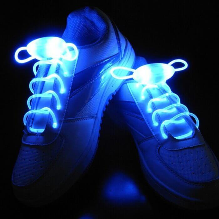 Party Skating Charming LED Flash Light Up Glow Shoelaces Shoe Laces Shoestrings 4