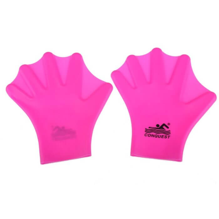 1 Pair Swimming Webbed Gloves Adult Swimming Finger Fin Hand Paddle Wear Silicon Swimming Diving Glove Equipment Surfing Fins 4