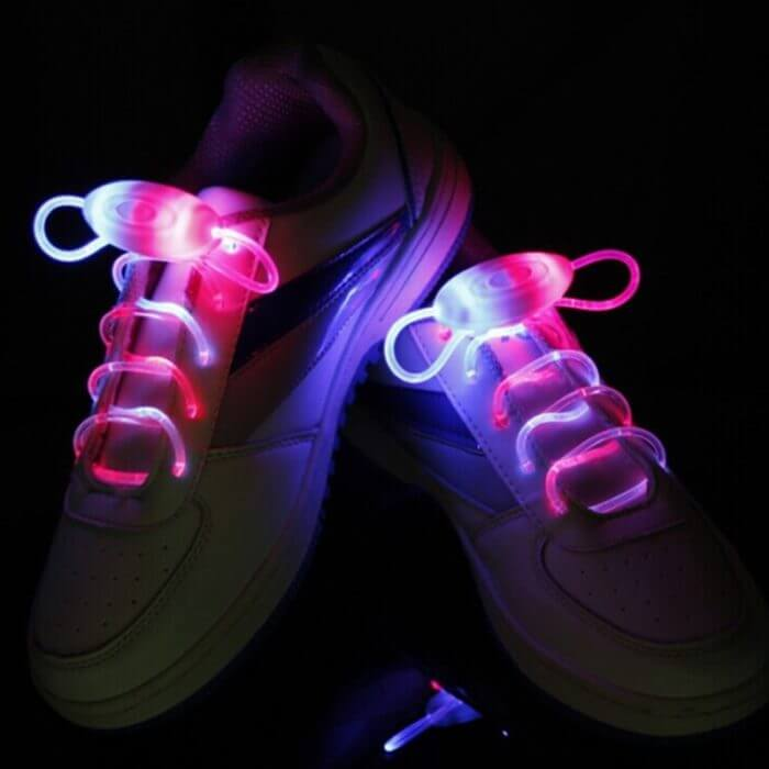 Party Skating Charming LED Flash Light Up Glow Shoelaces Shoe Laces Shoestrings 3