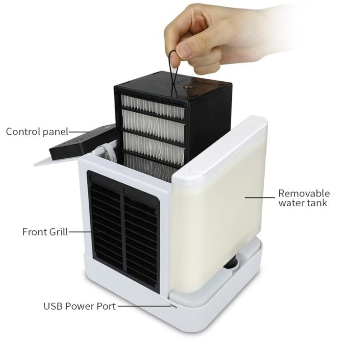 Portable Mini Air Conditioner Fan Personal Space Cooler The Quick Easy Way to Cool Any Space Home Office Desk Air Conditioning 1