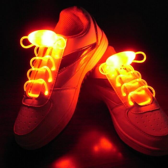 Party Skating Charming LED Flash Light Up Glow Shoelaces Shoe Laces Shoestrings 2