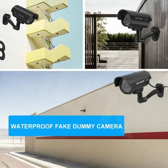 Fake Dummy Camera Bullet Waterproof Outdoor Indoor Security CCTV Surveillance Camera Flashing Red LED Free Shipping 5