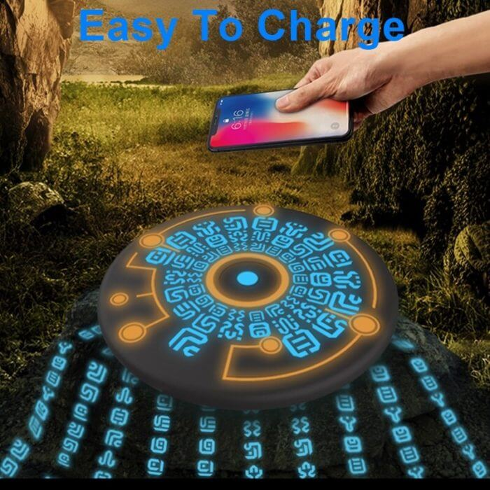 Tongdaytech 10W Magic Array Qi Wireless Charger For Iphone 8 X XR XS 11 Pro Max Cargador Inalambrico Fast Wireless Charging Pad 4