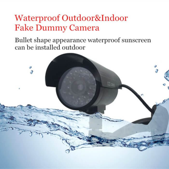 Fake Dummy Camera Bullet Waterproof Outdoor Indoor Security CCTV Surveillance Camera Flashing Red LED Free Shipping 1