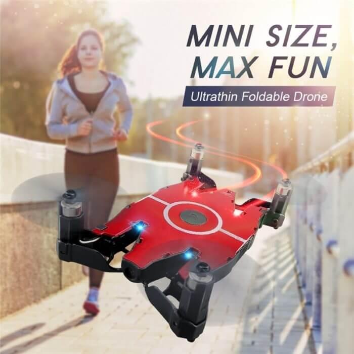 JJR/C JJRC T49 SOL Ultrathin Wifi FPV Selfie Drone 720P Camera Auto Foldable Arm Altitude Hold RC Quadcopter VS H49 E57 H37 5