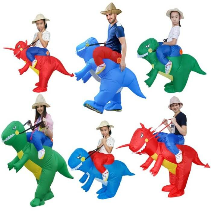T-REX Mascot Inflatable Costume For Child Adult Anime Cosplay Dinosaur Animal Jumpsuit Birthday Gift For Paty Cosplay Disfraz 3