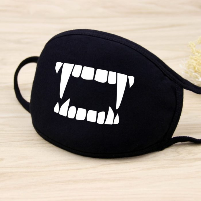 Cotton Dust Mask Cartoon Expression Teeth Muffle Chanyeol Face Respirator Anti Kpop Bear Mouth Mask 2