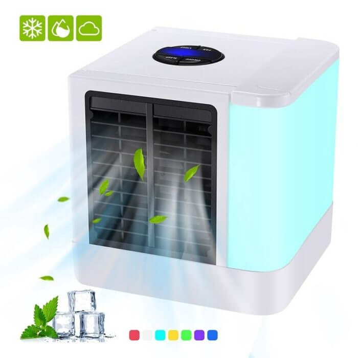 Portable Mini Air Conditioner Fan Personal Space Cooler The Quick Easy Way to Cool Any Space Home Office Desk Air Conditioning 3