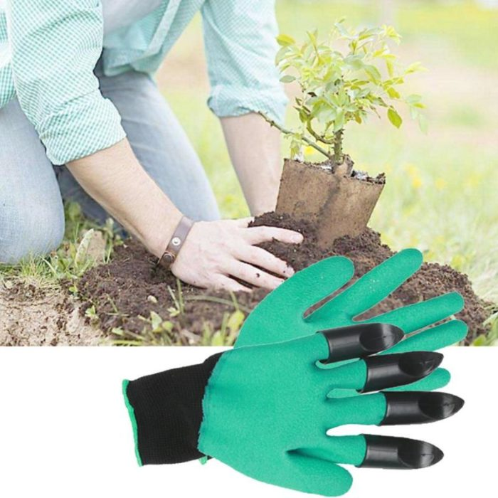 4pcs ABS Plastic Claws Gloves Supplies Garden Plant Digging Protective Safety Party Decor Household Tools Garden Hand Gloves 5