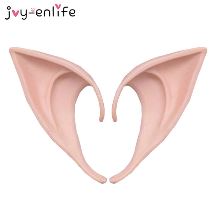 1Pair Mysterious Angel Elf Ears Fairy Cosplay Accessories Halloween Christmas Party Latex Soft Pointed Tips False Ears Props 3