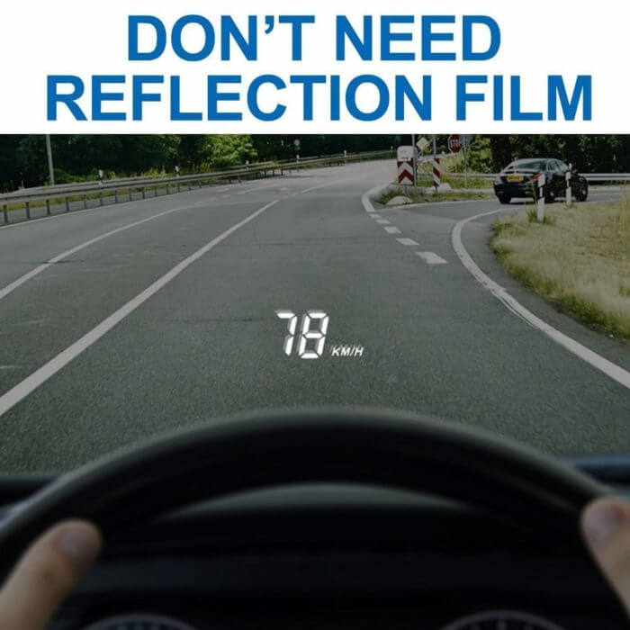car Speed Projector windshield head up display  A100 car gadgets Automobile obd2 HUD Rise Monitor OBD 2 Driving Computer 1