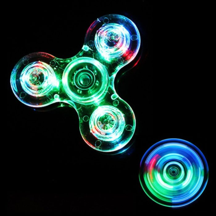 Luminous LED light Fidget Spinner Hand Top Spinners Glow in Dark Light EDC Figet Spiner Batman Finger Stress Relief Toys 2