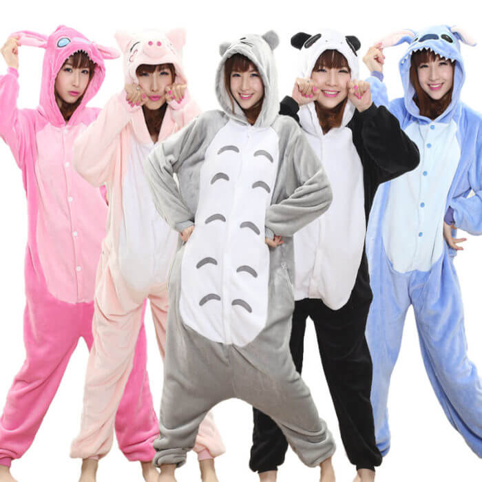 Totoro Kigurumi Onesie Adult Animal Unicorn Pajamas Suit Warm Soft Stitch Sleepwear Onepiece Winter Jumpsuit Pijama Cosplay