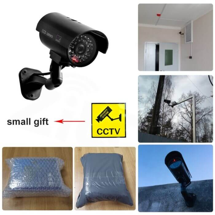 Fake Dummy Camera Bullet Waterproof Outdoor Indoor Security CCTV Surveillance Camera Flashing Red LED Free Shipping 4