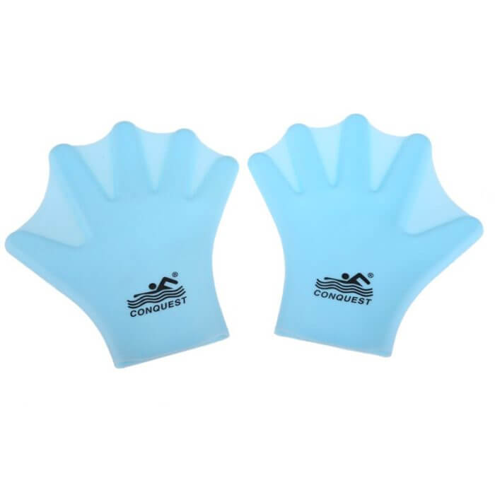 1 Pair Swimming Webbed Gloves Adult Swimming Finger Fin Hand Paddle Wear Silicon Swimming Diving Glove Equipment Surfing Fins 3