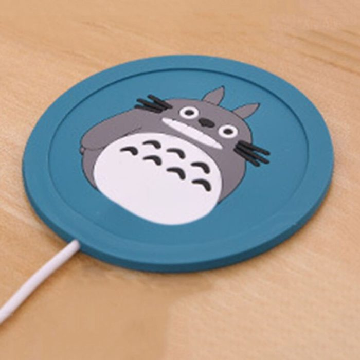 USB Warmer Gadget Cartoon Silicone thin Cup-Pad Coffee Tea Drink usb Heater Tray Mug Pad nice Gift 3