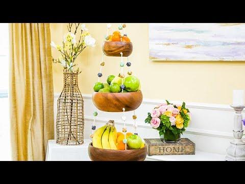 Macramé fruit basket