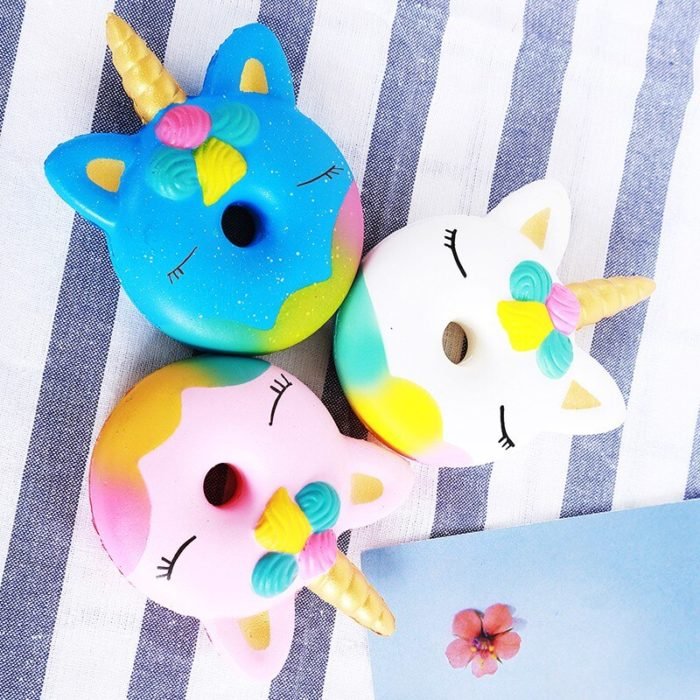 2018 Squishy Slow Rising Antistress Toy Cat Hamburger Fries Squishies Stress Relief Toy Funny Kids Gift Toy 5