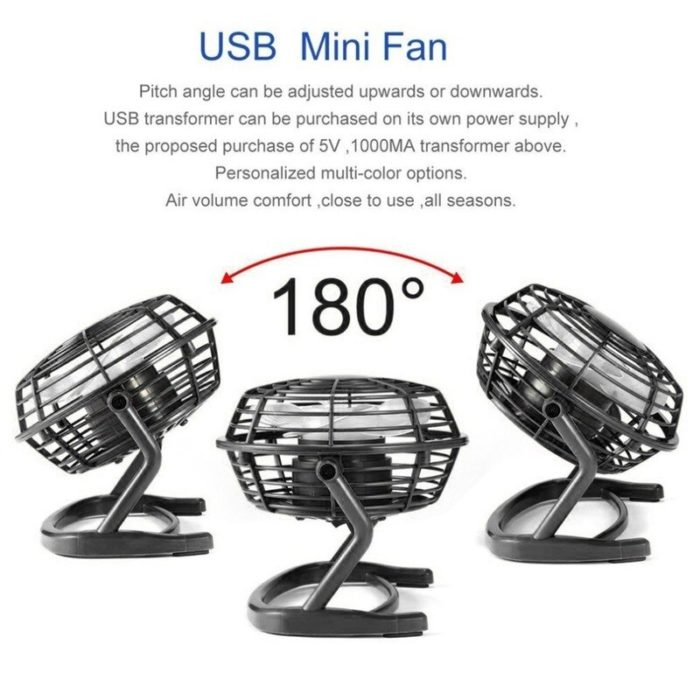 USB Gadget Portable USB Mini Fans Small Desk 4 Blades Cooler Cooling Fan DC 5V Operation Super Mute Silent PC Laptop Notebook 3