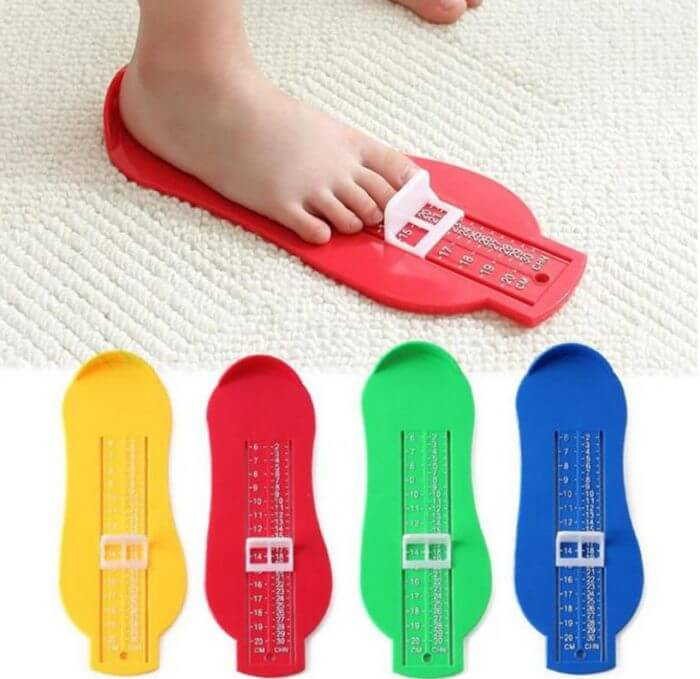 Baby Souvenirs Foot Shoe Size Measure Gauge Tool Device Measuring Ruler Novelty Funny Gadgets Educational Learning Toddler Toys 1