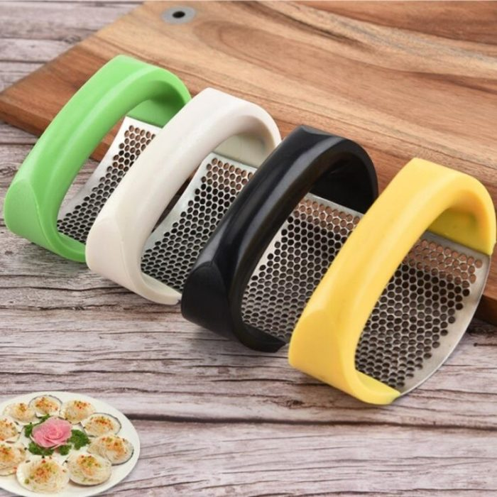 Multi-function Manual Garlic Presser Curved Garlic Grinding Slicer Chopper Stainless Steel Garlic Presses Cooking Gadgets Tool 2