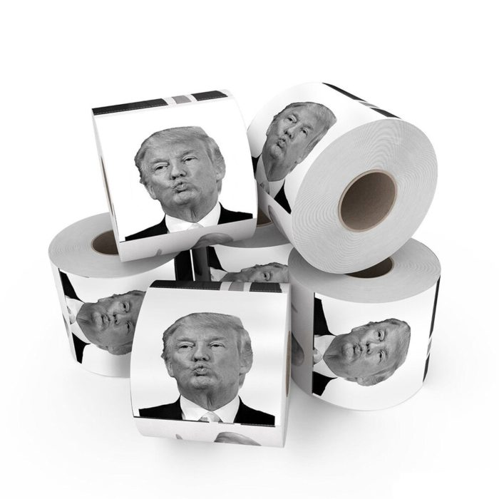 Hot Funny Small Toilet Paper Roll President Donald Trump Prank Toilet Paper Roll Joke tissue paper home party supplies On Sale 4