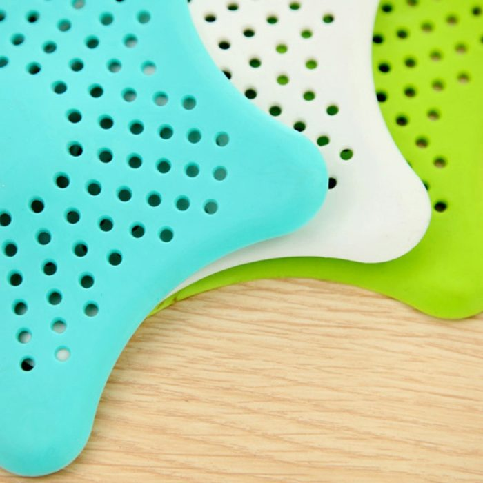 HOT Star Silicone Sink Strainers Sewer Outfall Filter Sewer Drain Hair Colander Bathroom Cleaning Kitchen Gadgets Accessories 14