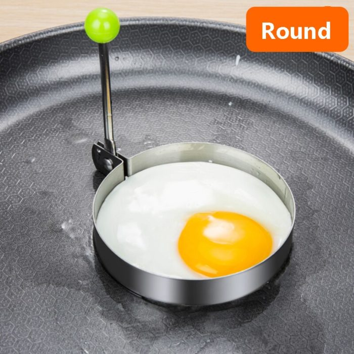Stainless Steel 5Style Fried Egg Pancake Shaper Omelette Mold Mould Frying Egg Cooking Tools Kitchen Accessories Gadget Rings 3