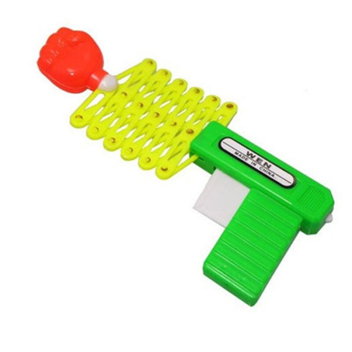 Retractable Fist Shooter Trick Toy Gun Funny Child Kids plastic Party Festival Gift Just For fun Classic Elastic Telescopic Fist 2