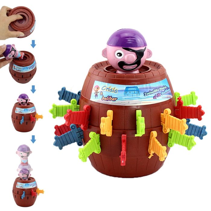 Funny Novelty Kids Children Funny Lucky Game Gadget Jokes Tricky Pirate Barrel Game NTDIZ1040 1