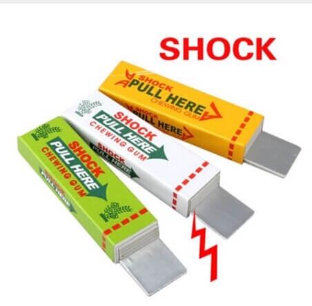 Electric Shock Joke Chewing Gum Pull Head Shocking Toy Gift Gadget Prank Trick Gag Funny 2