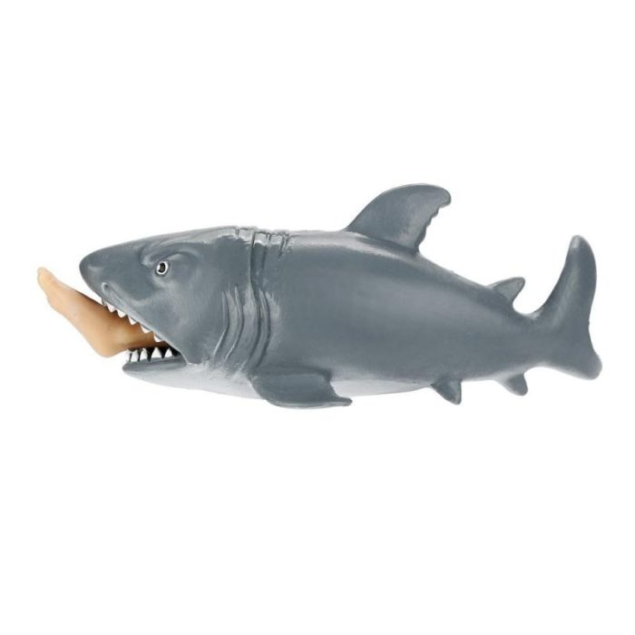 1pc Anti Stress Squeeze Toy Creative Biting Leg Shark Toy Plastic Funny Spoof Trick Gift for kids freeshipping 3