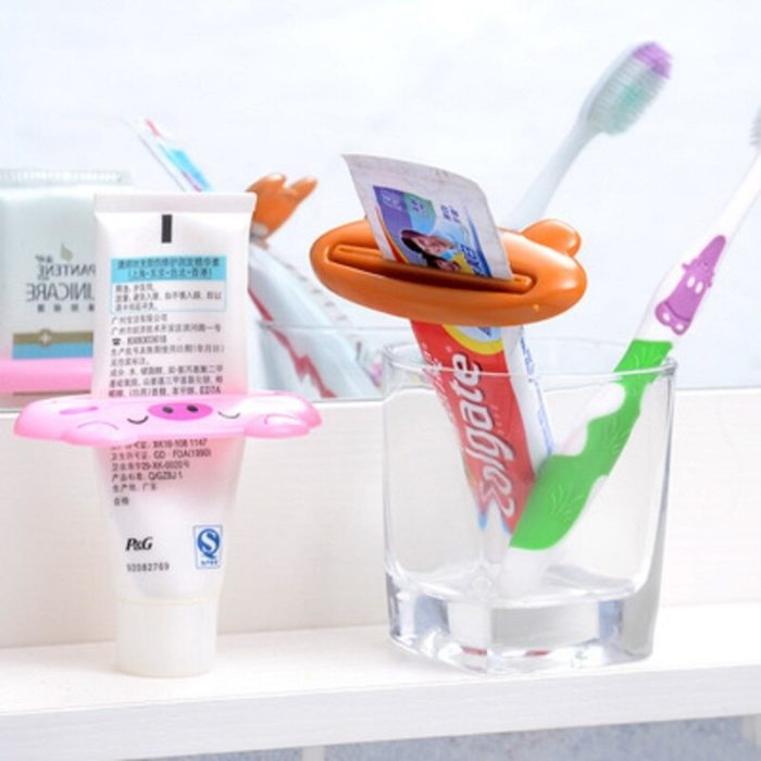 Kitchen Accessories Bathroom Multi-function Tool Cartoon Toothpaste Squeezer Kitchen Gadget Useful Home Bathroom Decoration 58