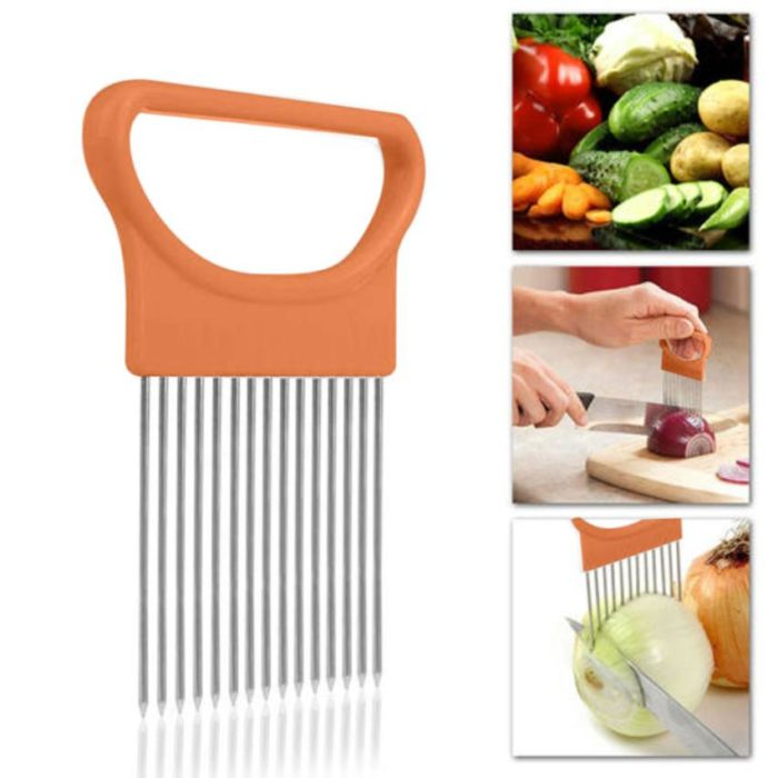 2019 New Kitchen Gadgets Onion Slicer Tomato Vegetables Safe Fork vegetables Slicing Cutting Tools 4