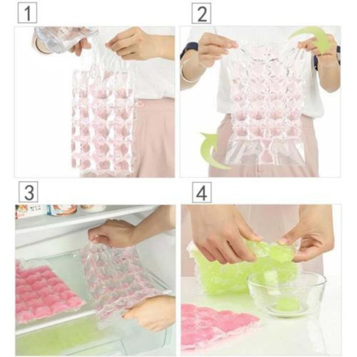 New 10 Pcs Ice Cube Mold Self-Seal Ice Cube Bags Transparent Disposable Faster Freezing Maker Ice-making Bag Kitchen Gadgets 4