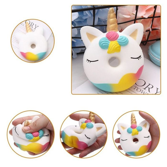 2018 Squishy Slow Rising Antistress Toy Cat Hamburger Fries Squishies Stress Relief Toy Funny Kids Gift Toy 3