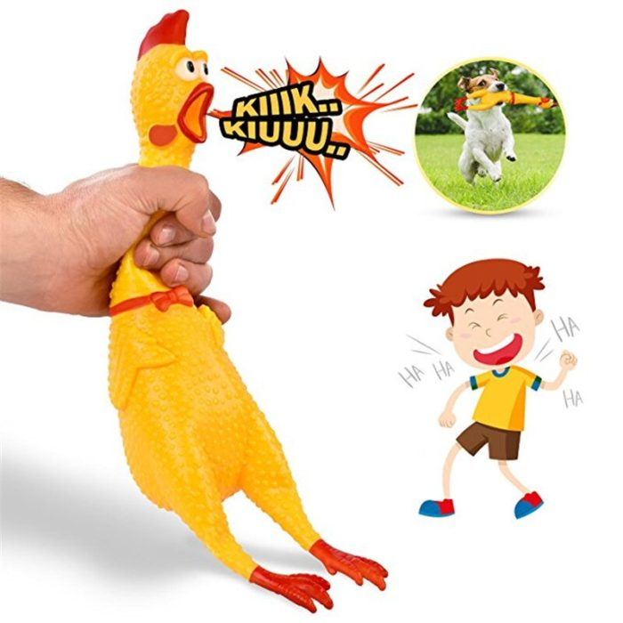32cm 17cm Screaming Chicken Squeeze Sound Toy Pets Toy Product Dog Toys Shrilling Decompression Tool Funny Gadgets 3
