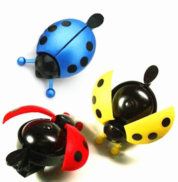 Bicycle Bell Ring Beetle Cartoon Cycling Bell Lovely Kids Ladybug Bell Ring for Bike Ride Horn Alarm bicycle Accessories 3