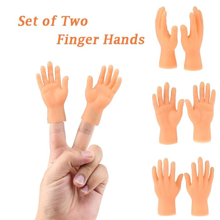 Novelty Toys Two Finger Hand Finger Puppets Novelty Funny Funny Set Of Two Finger Hand Finger Puppets Made of Silicone Play With 1