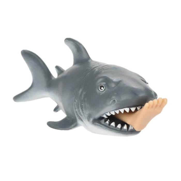 1pc Anti Stress Squeeze Toy Creative Biting Leg Shark Toy Plastic Funny Spoof Trick Gift for kids freeshipping 6