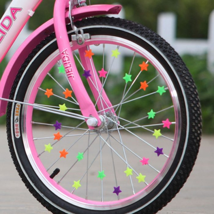 36PCS Bicycle Wheel Spoke Plastic Beads Multi Color Children Clips Decoration Bike Colorful Baby Kid Gifts Cycling Accessories 1