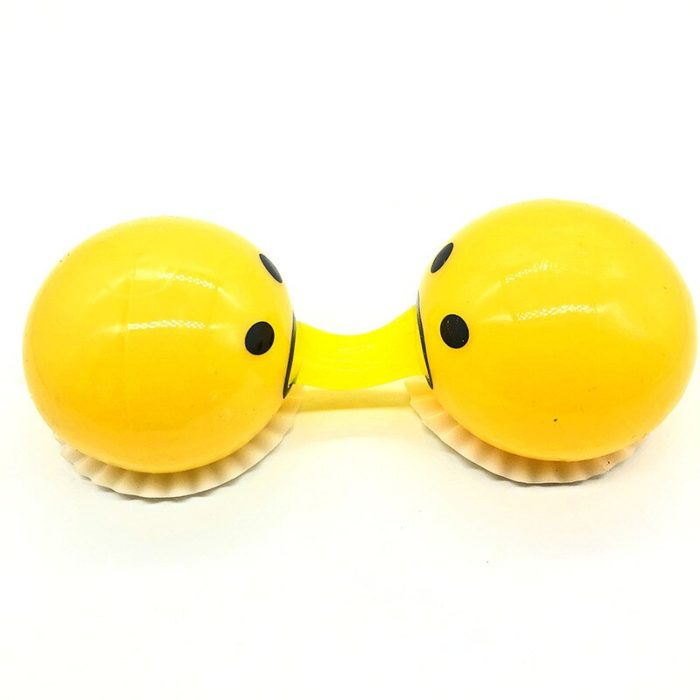 Squishy Vomitive Egg Yolk Yellow Lazy Egg Joke Toy Ball Egg Squeeze Funny Toys AntiStress Whole person vomiting disgusting egg 2