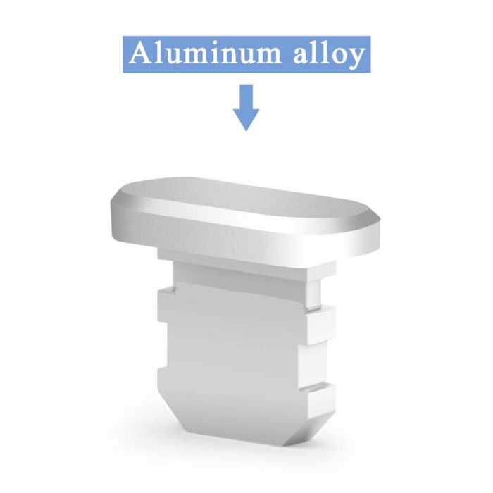 Aluminum Material Anti Dust Plug Charging Port for iPhone Xs Max XR X 8 Plus 7 6s 5s 5 SE For iPad Mini Phone Accessories Gadget 6