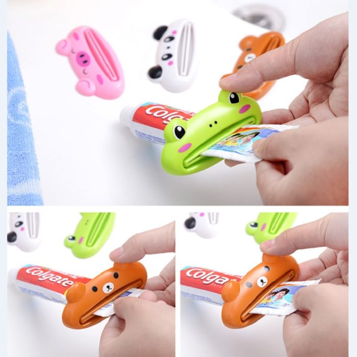 Kitchen Accessories Bathroom Multi-function Tool Cartoon Toothpaste Squeezer Kitchen Gadget Useful Home Bathroom Decoration 6
