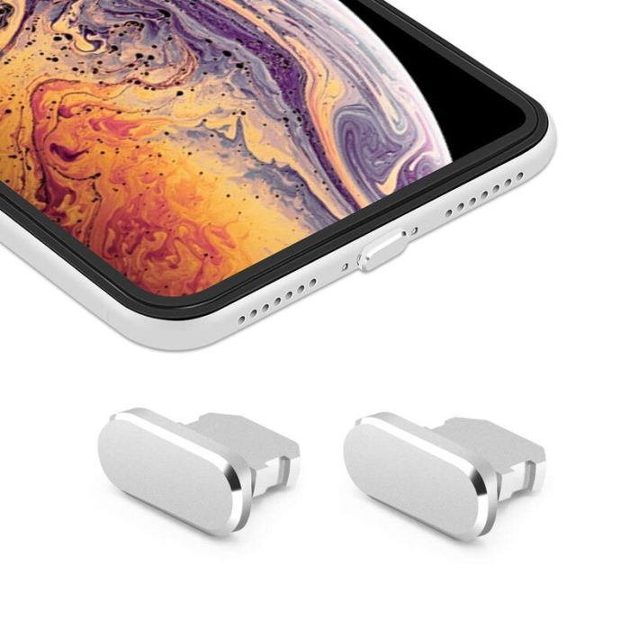 Aluminum Material Anti Dust Plug Charging Port for iPhone Xs Max XR X 8 Plus 7 6s 5s 5 SE For iPad Mini Phone Accessories Gadget 2