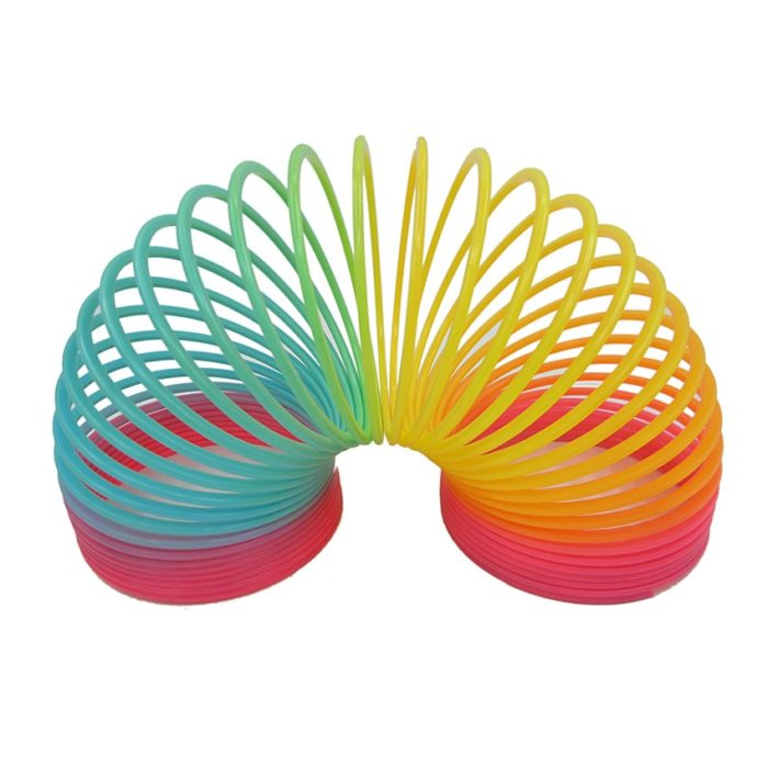 1pcs Rainbow Circle Funny Toys Early Development Educational  Folding Plastic Spring Coil Children's Creative Magical Toys 2