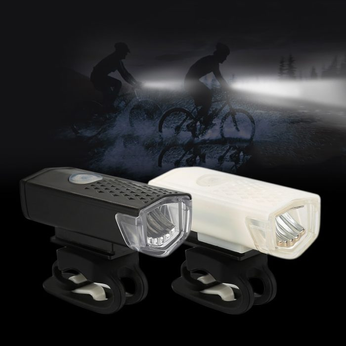Bike Light USB Rechargeable 300 Lumens Bicycle Lamp Front Headlight Flashlight Bicycle Light Bicycle Accessories 5